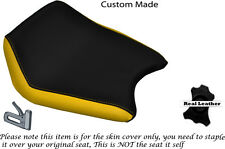 YELLOW & BLACK CUSTOM FITS CAGIVA PRIMA 50 FRONT RIDER LEATHER SEAT COVER ONLY