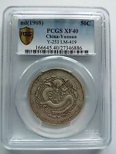 Y-253 Chinese 1908 China Yunnan Silver 50 Cents PCGS XF 40