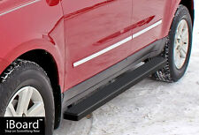 """4"""" Black iBoard Running Boards Fit 07-17 Chevy Traverse/GMC Acadia"""