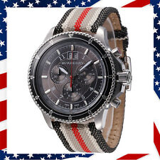 *USA SELLER** NEW AUTHENTIC BURBERRY LEATHER CHRONOGRAPH MEN'S WATCH BU7601