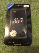 New Authentic Coveroo Thinshield NY Mets Logo iPhone 4/4S Case, Black