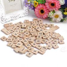 100Pcs bois Alphabet Scrabble Carrelage Noir Des lettres pour Artisanat Bois