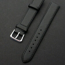 HOT Quality Unisex Genuine Leather Black Brown Watch Strap Band Womens Mens