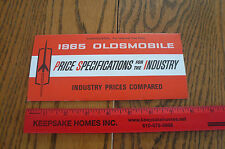 1965 Oldsmobile Price Specifications - Vintage - Industry Prices Compared