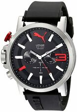 Puma PU103981001 Men's Ultrasize 50 Analog Display Quartz Black Watch