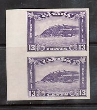 Canada #201a XF/NH Imperforate Pair