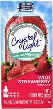8 10-Packet Boxes Crystal Light Wild Strawberry With Caffeine On The Go