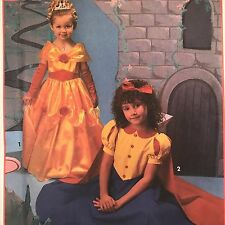 Simplicity 8514 Childrens Costume Princess Snow White Sewing Pattern Size 2-6