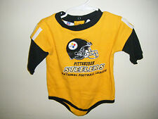 NFL Pittsburgh Steelers Infant Baby Size 12 Months Sleeved Body Snap Suit Yellow