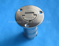 "Boat Deck Fill / Filler Keyless Cap -1 1/2""- Water - Marine Stainless Steel"