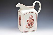 Villeroy Boch Santa Charm Ginger Red White Christmas Holiday Large Pitcher 84oz