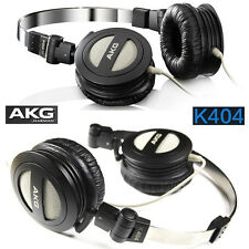 AKG K404 Headphones Stereo Headset Earphones Foldable HiFi Sound