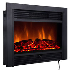 "SALE 28.5"" Fireplace Electric Embedded Insert Heater Glass Log Flame Remote Home"