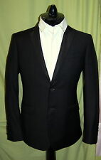 NWT BURBERRY LONDON mens black wool mohair tuxedo suit US 48R $1995 ITALY