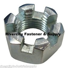 (10) 5/8-18 Slotted Hex Castle Nut Zinc Plated 5/8 x 18 Fine Thread