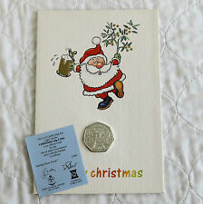 ISLE OF MAN 1992 CHRISTMAS SILVER PROOF 50 PENCE - sealed/coa