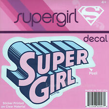 "DC Supergirl Logo Emblem Pink Car Window Sticker Decal  5"" - Official"