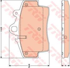 Nouveau trw GDB1756 lot de plaquettes de frein-porsche boxster (987)200411 -