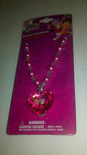 Dora the Explorer Pink Heart Pearl Bead Charm Necklace perfect gift Brand New