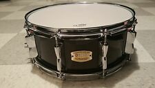 Yamaha 5.5x14 Stage Custom Birch Snare Drum Raven Black in MINT CONDITION!!