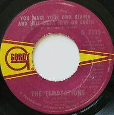 FUNKY PSYCH SOUL 45 THE TEMPTATIONS ON GORDY HEAR - VERSAND KOSTENLOS AB 5 45S!