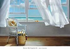 Karen Hollingsworth Sense Memory art print poster 26x36 beach ocean view window