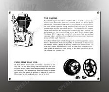 VINTAGE ROYAL ENFIELD 1938 ENGINE,REAR HUB IMAGE BANNER NOS IMAGE REPRODUCTION