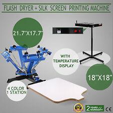 Siebdruckkarussell Textildruck Siebdruck Siebdruckmaschine 18x18 Flash-Trockner
