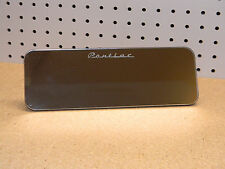 "AUTO VINTAGE PONTIAC MIRROR CHROME RECTANGULAR CLIP ON SUNVISOR 10""X3-1/2"" VGC"
