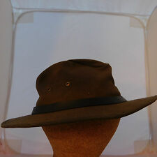 Australian Outback Collection Brown Oil Cloth Hat XL Extra Large - Waterproof