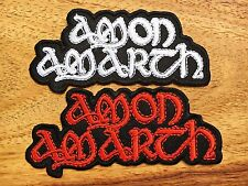 Amon Amarth Sew Iron On Patch Embroidered Heavy Melodic Death Rock Band. 2 PCS
