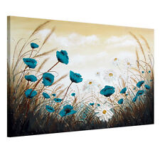 READY TO HANG Framed Canvas Print Wall Art Painting Picture Abstract Flower