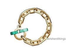 New Michael Kors Cityscape Malachite Chain Link Toggle Bracelet MKJ4585710 $145