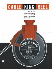 MRO Brochure - Yale Cable King Reel for Travelling Electric Hoist c1964 (MR118)