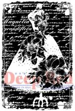 Deep Red Cling Rubber Stamp Rubber Stamp Magnolia Dress Form Romantic