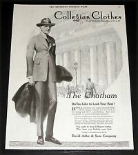 1920 OLD MAGAZINE PRINT AD, COLLEGIAN CLOTHES, DO YOU LIKE TO LOOK YOUR BEST!