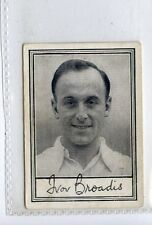 (Jd3919) BARRATT,FAMOUS FOOTBALLERS A2,I.BROADIS,1954,#37