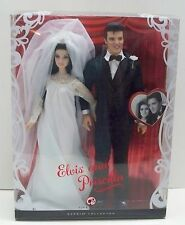 ELVIS AND PRISCILLA WEDDING DAY BARBIE COLLECTOR EDITION PINK LABEL NRFB MINT
