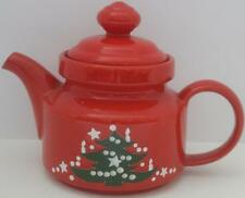 Waechtersbach Christmas Tea Pot Red Christmas Tree RARE HTF FREE SHIPPING!