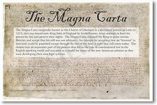 The Magna Carta - Common Core Classroom Social Studies Constitutional NEW POSTER