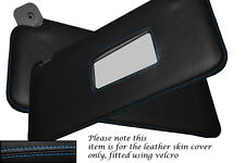 BLUE STITCHING FITS FIAT PUNTO MK1 93-99 2X SUN VISORS LEATHER COVERS ONLY