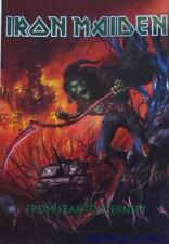 "IRON MAIDEN  Rock flag/ Tapestry/ Fabric Poster   ""Fear To Eternity""   NEW"