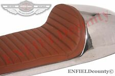 BENELLI MOJAVE SEAT TAN BROWN LEATHERITE ALUMINIUM CAFE RACER 260 360 BIKE @CAD