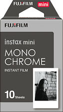 Fujifilm Fuji Instax Mini Monochrome 10 photo Film 7s 8 25 50s 70 90 Polaroid