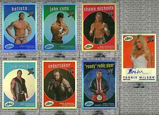 2007 eTopps WWE Complete 7 CARD SET THE ROCK CENA UNDERTAKER BATISTA WILSON AUTO