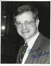 Frank McCloskey - U.S. Representative Original Autographed 7x9 Photo & Letter