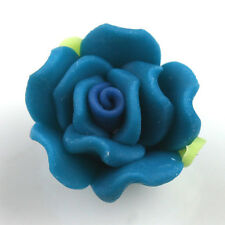 150pcs 15mm Dark Blue Rose FIMO Polymer Clay Spacer Beads Fit Carfts Handamde L