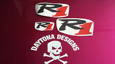 R1 CARBON FIBRE & RED SET NOSE & CONE SEAT UNIT DECALS STICKERS