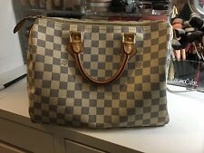 Authentic Louis Vuitton Preowned Speedy 30 Damier Azur