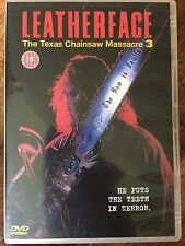 LEATHERFACE TEXAS MOTOSIERRA MASACRE DE 3 Sangriento 1990 Slasher Horror UK DVD